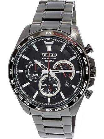Seiko Homme Ssb311 Gris en acier inoxydable japonais chronographe montre de plongée