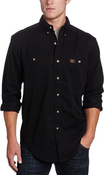 Wrangler Riggs Workwear - Camisa de trabajo de sarga para hombre - Negro - Large: Amazon.es: Ropa y accesorios
