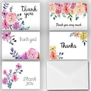 Giveaway: Small Beautiful Floral Thank You Note Cards 25 Pack - Envelopes...