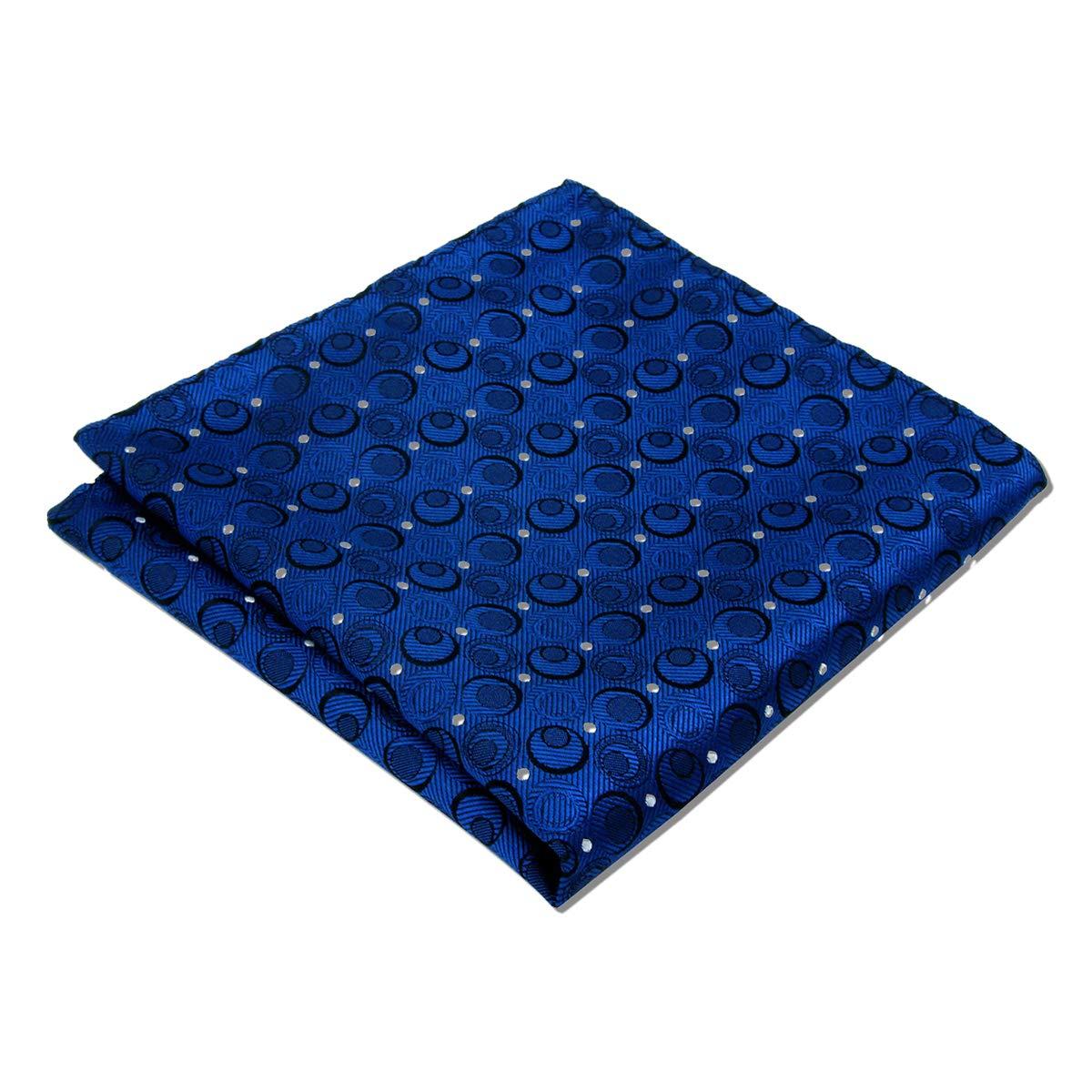 Shlax /& Wing Navy Hanky Dots Mens Pocket Square Blue Large 12.6