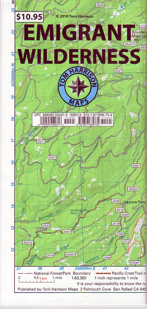 Emigrant Wilderness Trail Map (Tom Harrison Maps): Tom Harrison ...