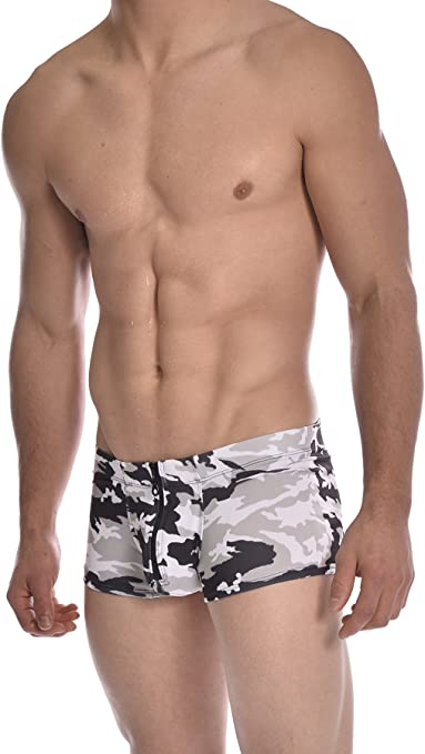 Gary Majdell Sport Mens Competition Style Boxer Brief Swimsuit with Front Pouch