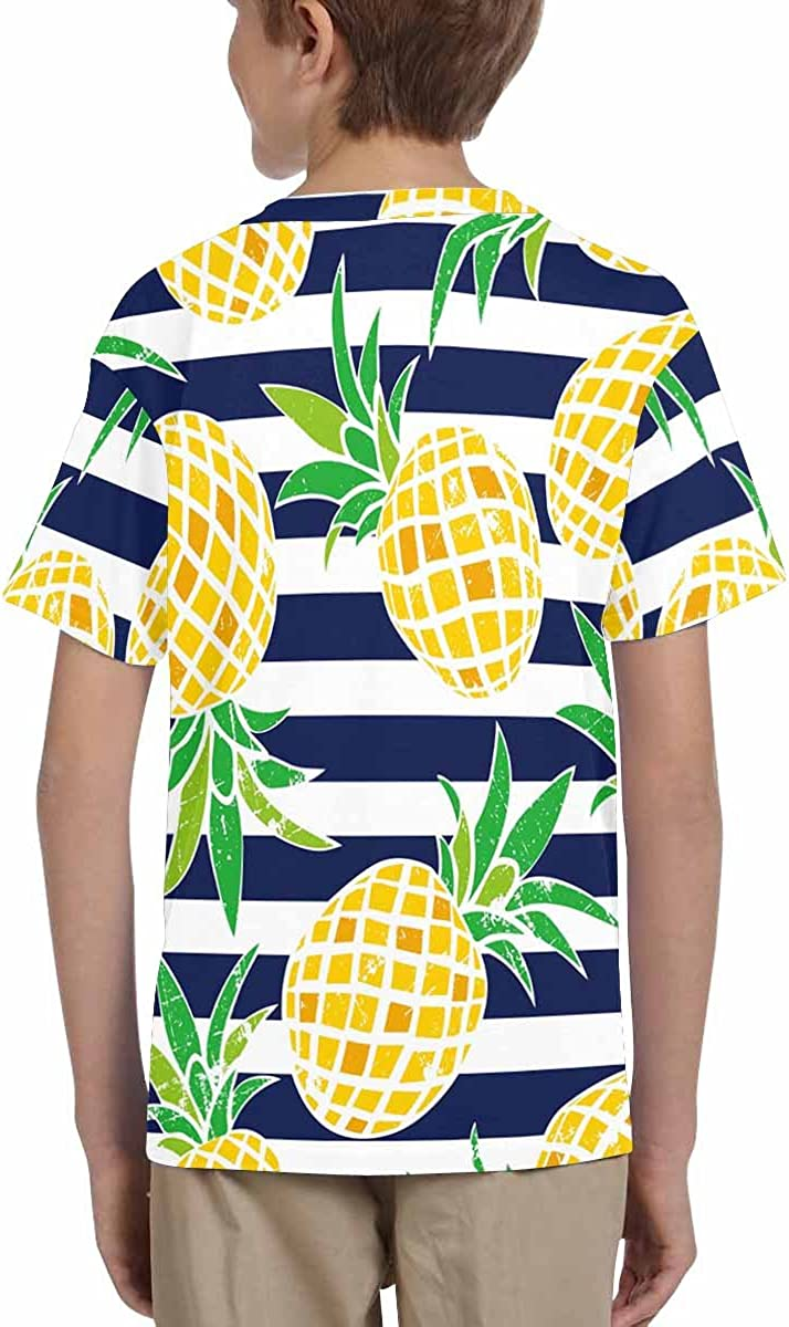 XS-XL INTERESTPRINT Youth T-Shirts Cartoon Pineapple