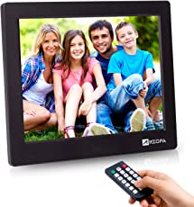 Advanced Digital Picture Photo Frame - 720P and Partial 1080P HD IPS Widescreen Eletronic Picture Frame Advertising Player with Calendar/Clock/Remote Control Black 8-inch