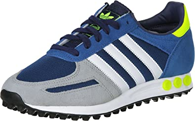 adidas Zapatillas La Trainer Azul/Blanco EU 36 2/3 (UK 4): Amazon ...