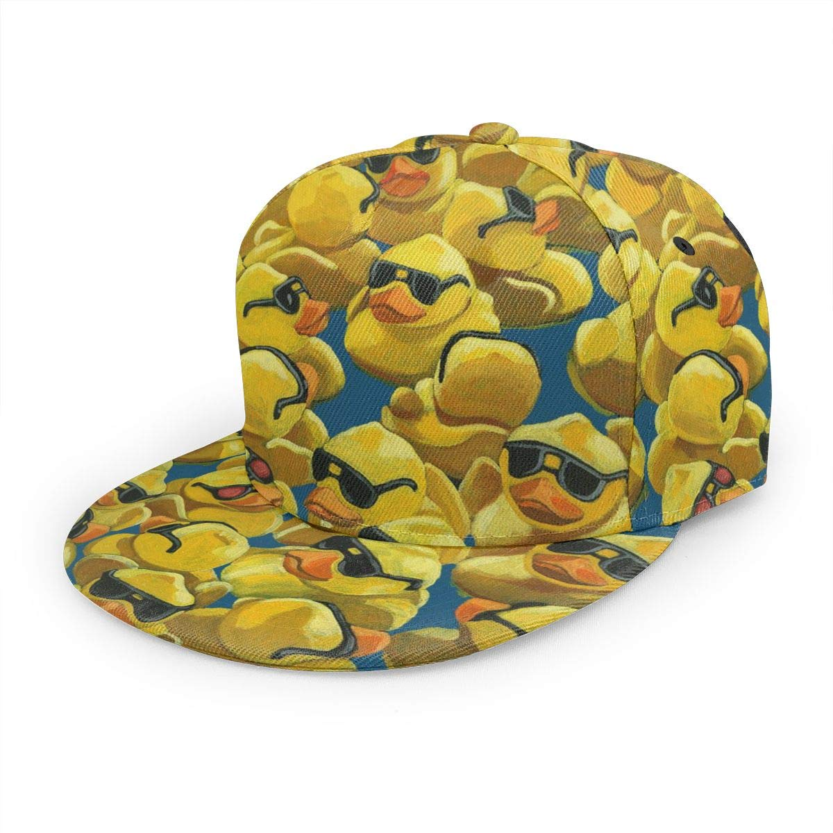 Rubber Duck Painting Boy Adjustable Denim Baseball Caps Hip Hop Cap