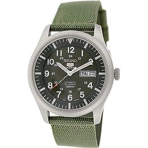 Amazon.com: Seiko 5 Sport Automatic Mens Watch SNZG07 ...