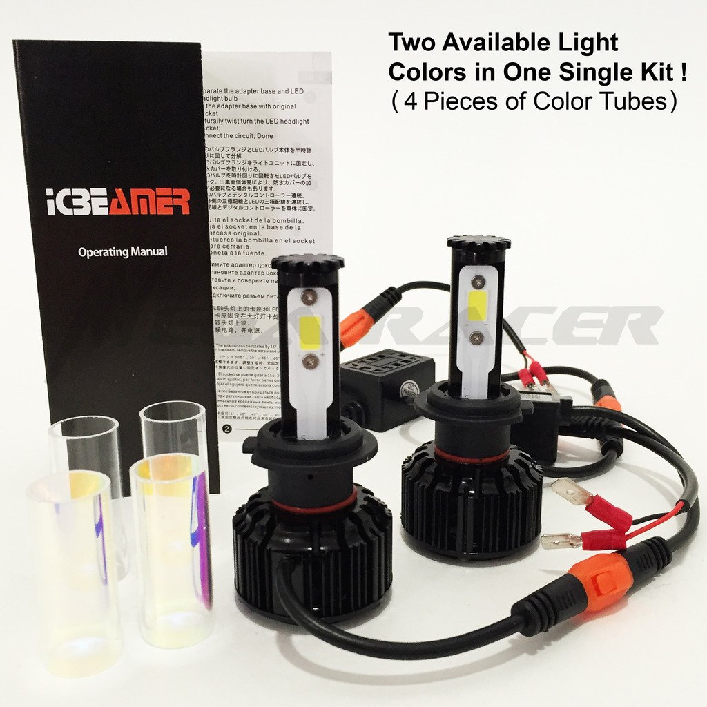 Amazon.com: Mega Racer Motorcycle H7 CREE COB LED 6K White 10K Blue LED Kit Headlight Replace Xenon Low Lo High Hi Beam Lamp Light Bulb: Automotive