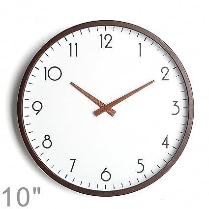 DXdoo Reloj de Pared de Madera Maciza Captura el Movimiento del Reloj Digital Reloj silencioso de