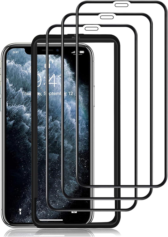 omitium Verre Trempé pour iPhone 11 Pro Max, [3 Pièces] Couverture Maximale i