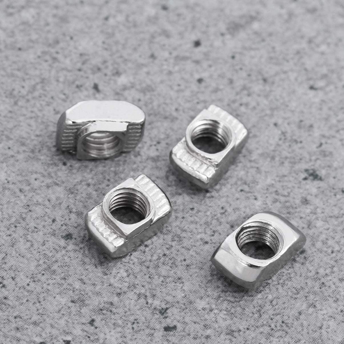 M4x10x6 UKCOCO 100PCS Carbon M4 T-Nuts Aluminum T-Nut European T-Nut