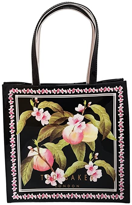 Ted Baker Maecon Peach Blossom Black Large Shopper Bag  Amazon.co.uk  Shoes    Bags 28b2ce6c8cbd1