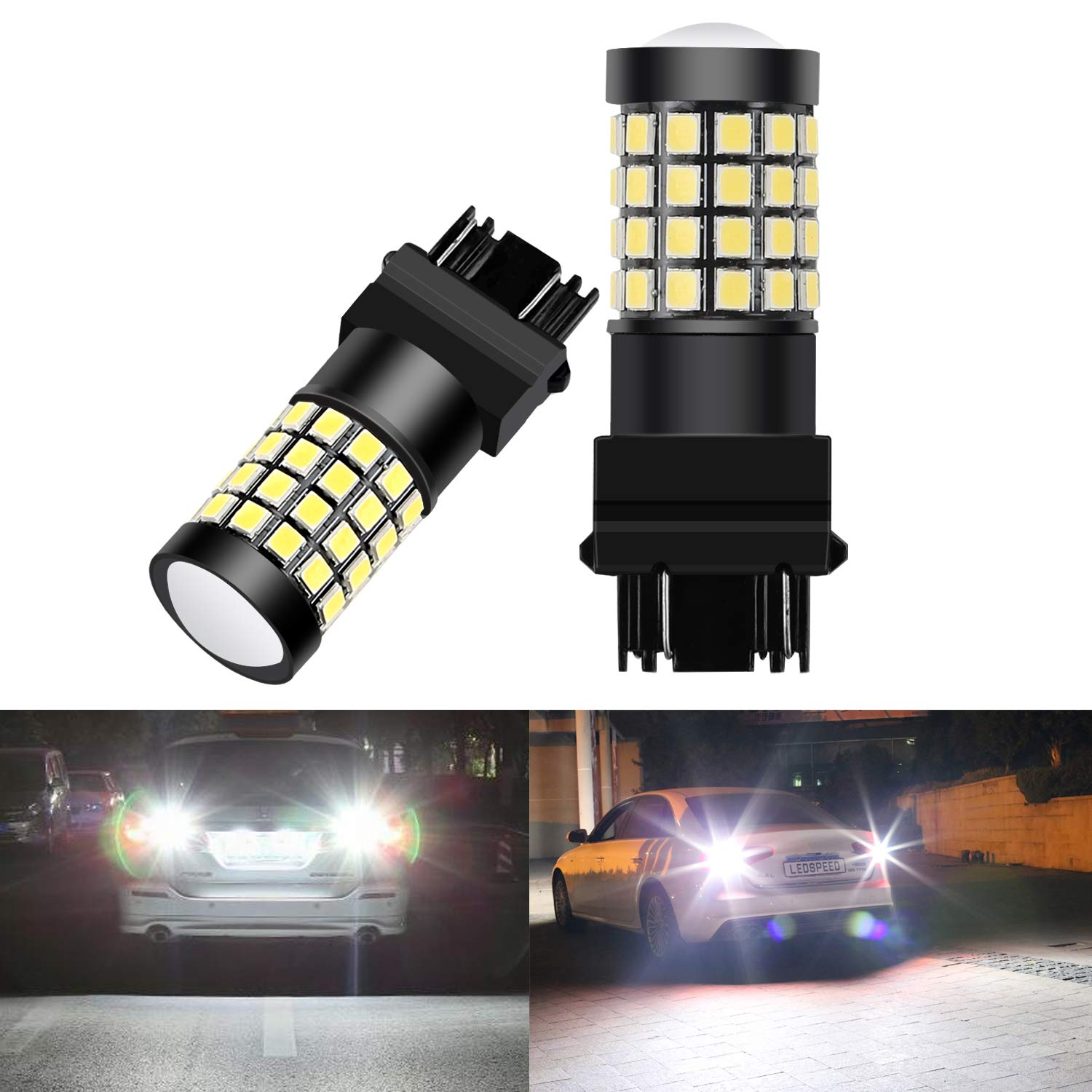 Nakobo 1000 Lumen 921 912 T15 Led Bulb,45SMD High illumination Low Power for Back up Reverse Tail Light,Canbus Error Free Xenon White, Pack of 2