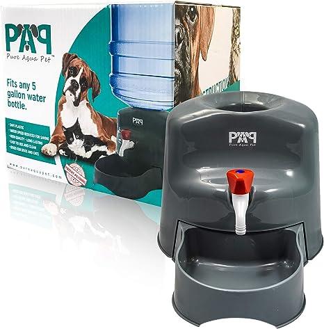 ultra silenciosa Dispensador de agua para mascotas con ventana de agua para mascotas Renquen fuente de agua de 2,4 L estilo de flores fuente de 3 modos sana e higi/énica para gatos