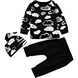 Malloom® Baby Outfits Set, Baby Set Long Sleeve Cloud Print Tops + Pant + Cap Boys Girl Clothing Suit