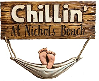 product image for Piazza Pisano Chillin' at The Beach Personalized Beach House Sign