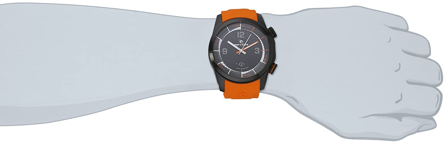 Rip Curl Men s A2624 – ORA Launch Sport Watch with Orange Silicone Band
