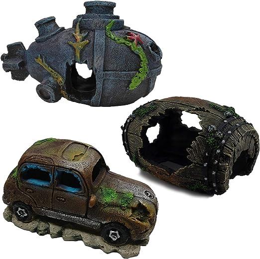 Amazon Com Orgmemory Aquarium Decor Ornaments Fish Tank Decorations 3pcs Home Aquarium Ornament Pet Supplies