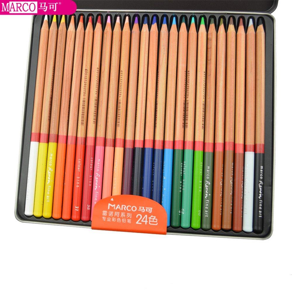 Artist Charcoal Sticks / Artist's Pencils /Artist crayon / Paste Natural mineral pigment (Oil colored pencil 3100-24TN) by KachiKawa