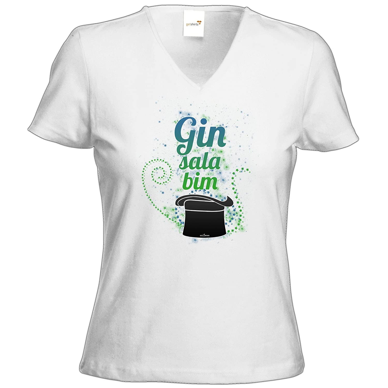 getshirts - SizzleBrothers Merchandise Shop - T-Shirt Damen V-Neck -  SizzleBrothers - Grillen - Gin - ginsalabim: Amazon.de: Bekleidung
