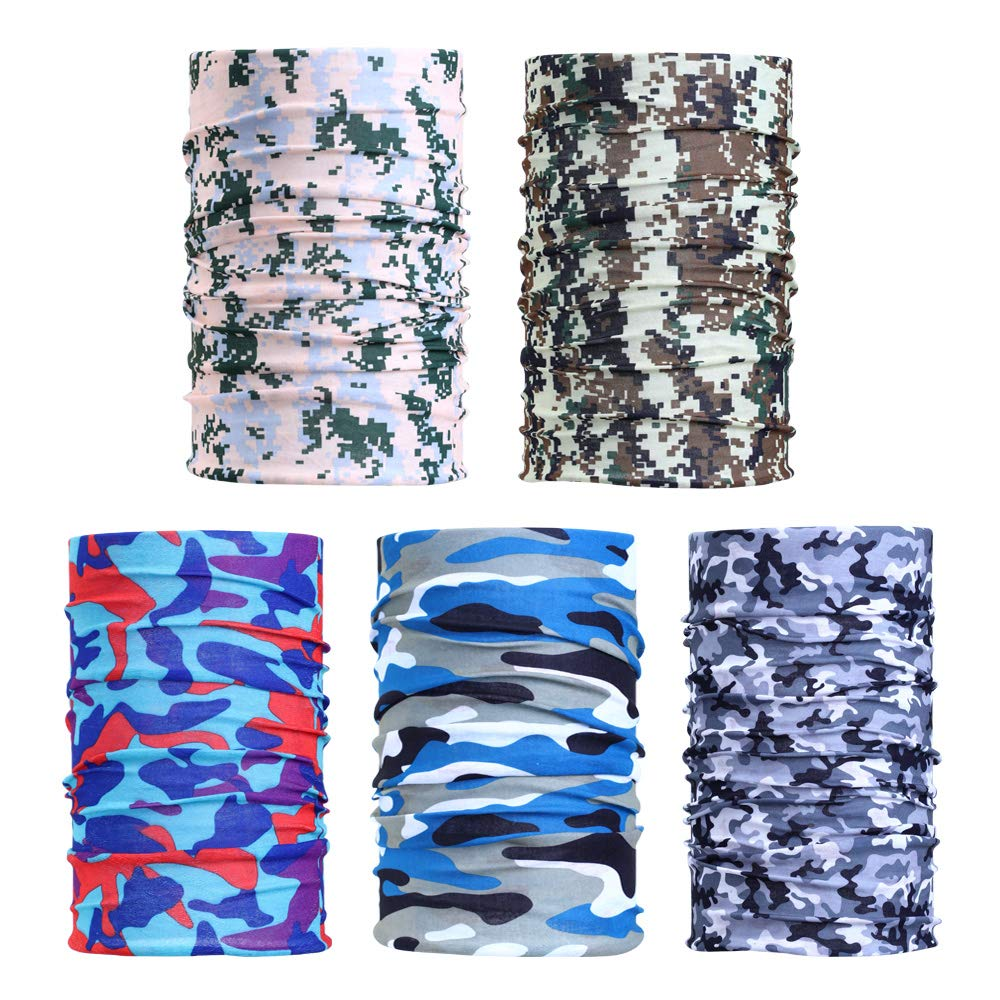 Men Women Seamless Headbands Bandanas Headwear Multifunctional Neck Gaiter Scarf for Outdoor Sports