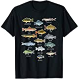 Types Of Freshwater Fish Species Fishing T-Shirt