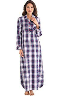 11304b743f Amoy madrola Women s 100% Cotton Woven Flannel Nightgowns Full ...