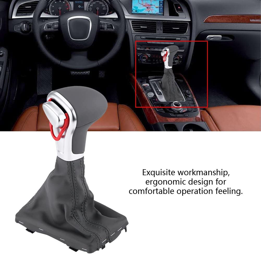 Car Gear Shift Knob Gearstick Gaiter Boot Kit Grey Color Keenso Gear Shift Stick Knob and Gaiter Boot Cover