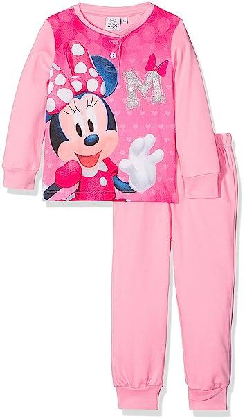 03727746c639 Pijama Infantil Minnie Disney para niñas Manga Larga Pantalon Largo 100%  algodón: Amazon.es: Ropa y accesorios