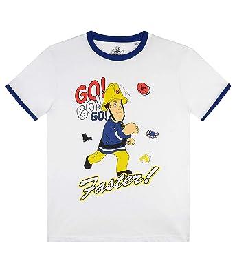 Sam el bombero Camiseta Manga Corta para Chicos: Amazon.es: Ropa y ...