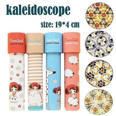 Sacow Kaleidoscope Toys, Magic Rotating Kaleidoscope Fancy World Toys for Baby Autism Kid Toys (C): Home & Kitchen