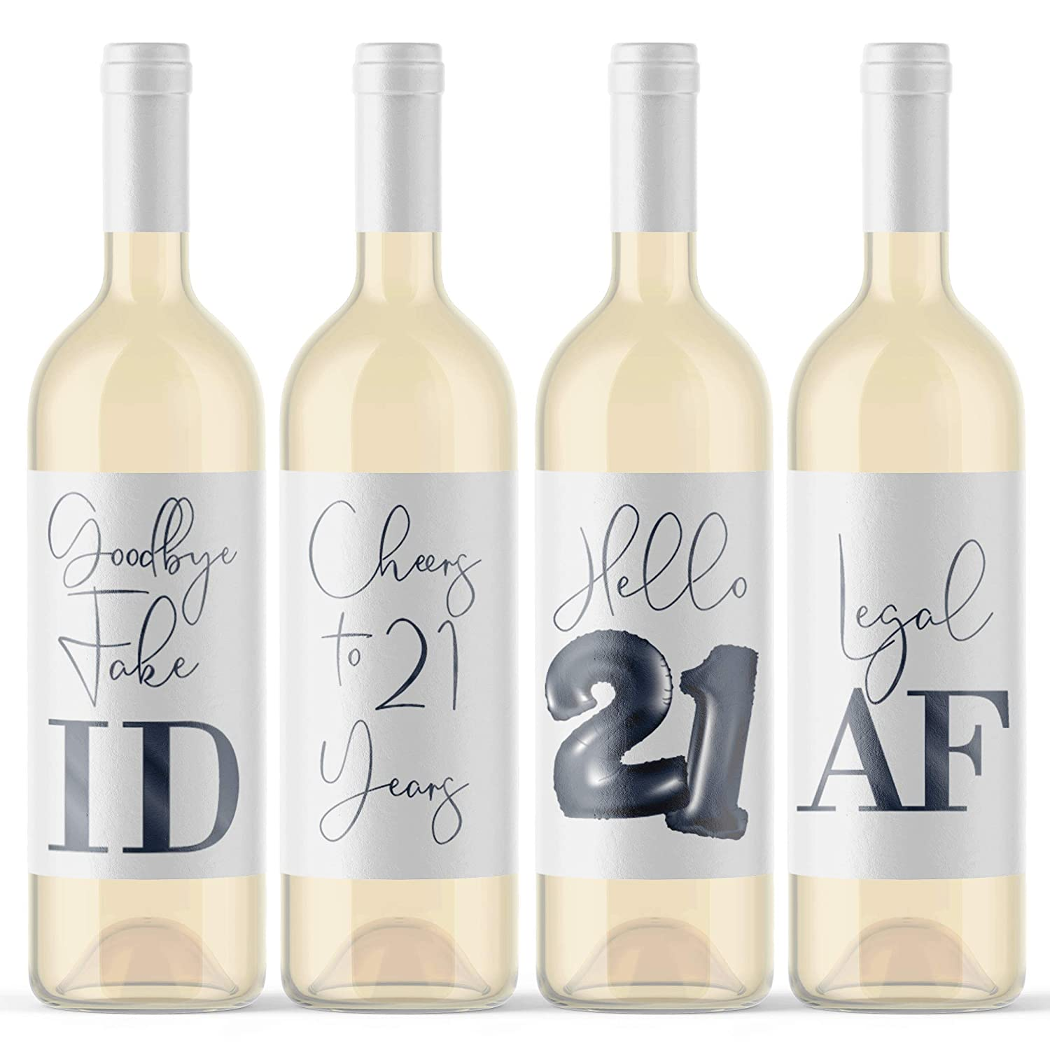 Glass Labels 21st Birthday Party Supplies 8pack 21st Birthday Party 21st Birthday Glass Markers 21st Birthday Party Wine Charms