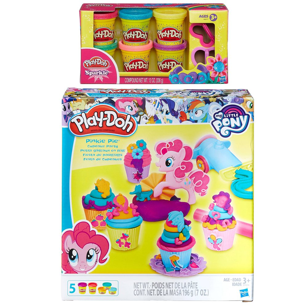Play Doh My Little Pony Pinkie Pie Cupcake Party Play Doh Sparkle Compound Bundle