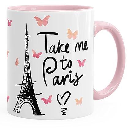 Taza de café Take Me To Paris Taza de Regalo para Mujer novia Taza con