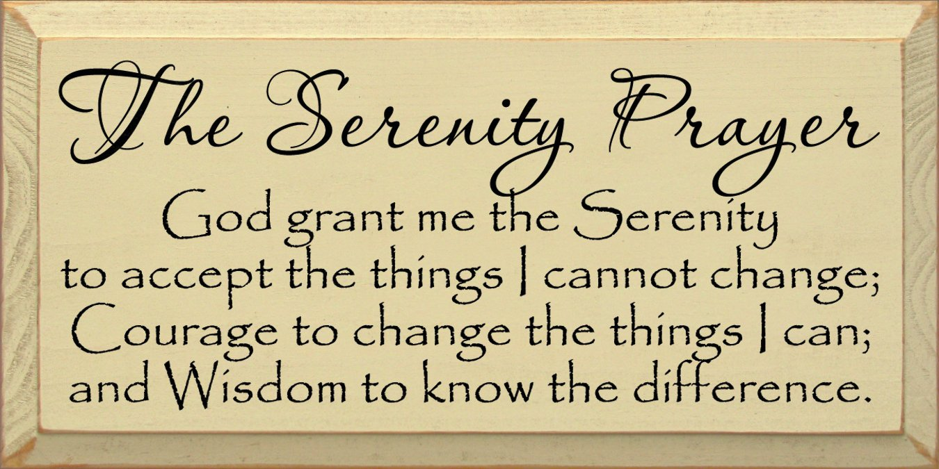 Amazon.com: Sawdust City Wooden Sign - The Serenity Prayer: God ...