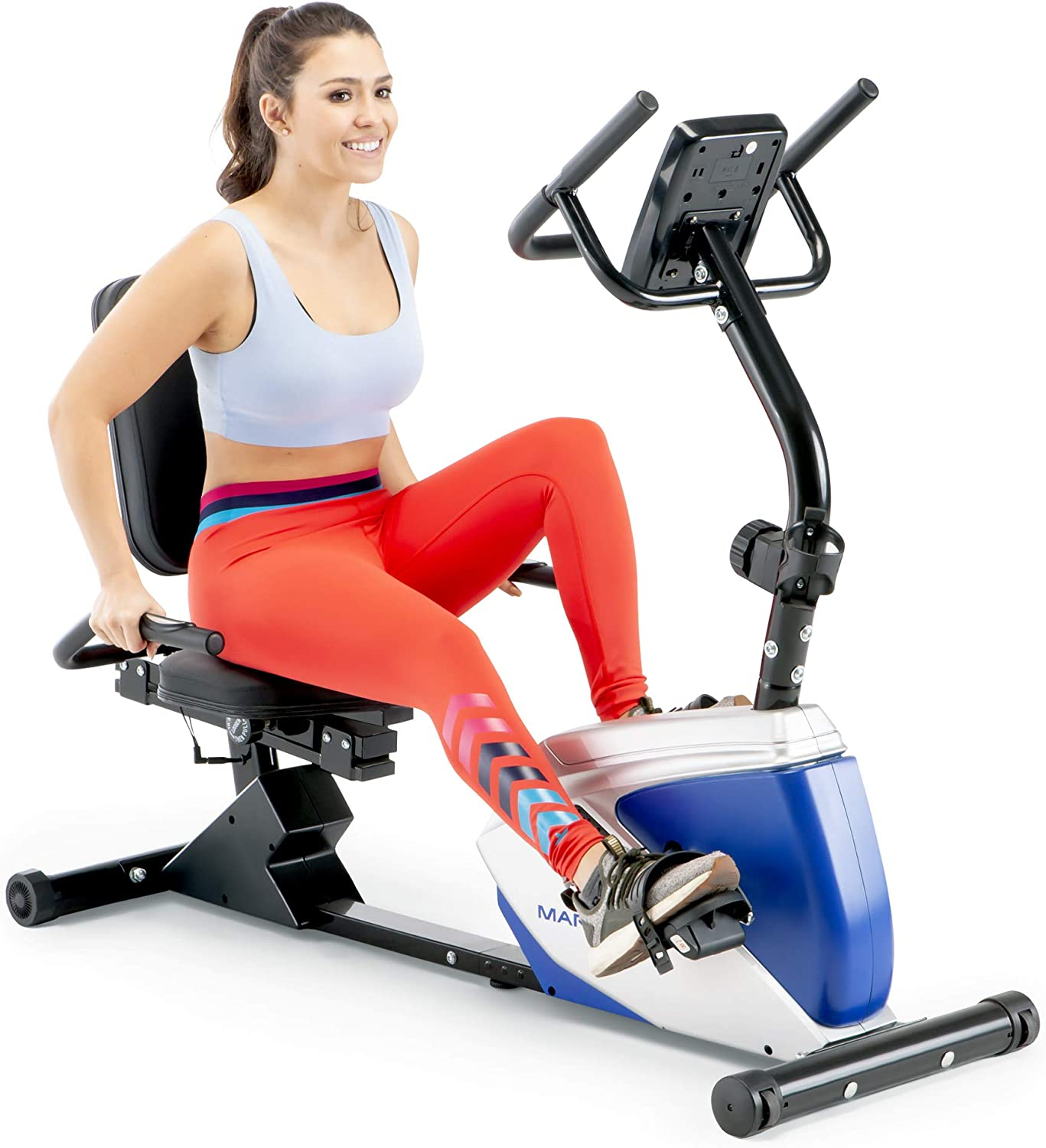 Marcy ME-1019R Magnetic Recumbent Exercise Bike with 8 Resistance Levels