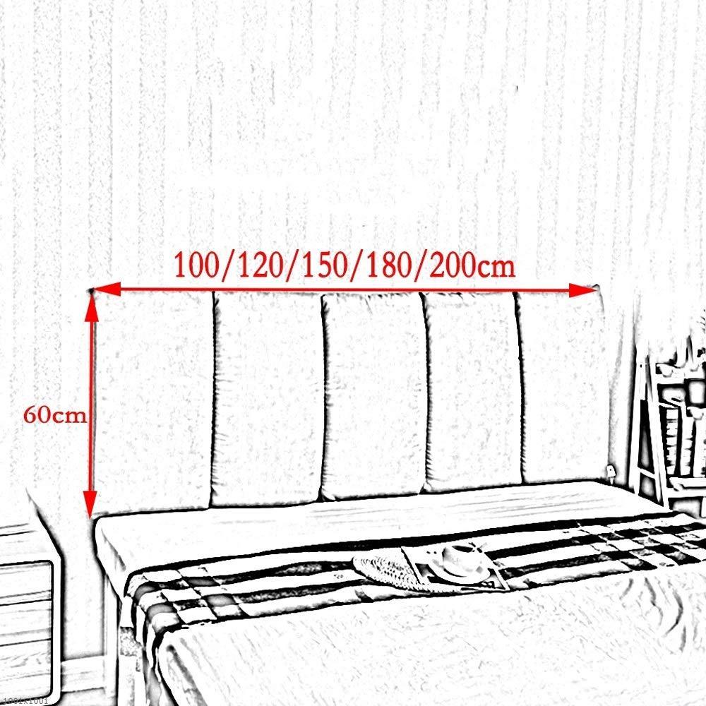 Cojines JXQ Cabeza de Cama Directos contra la Pared Suave Bolsa anticolisi/ón Doble Cabeza de Cama Respaldo de Tela Lavable Color : Blue, Size : 100 x 60cm