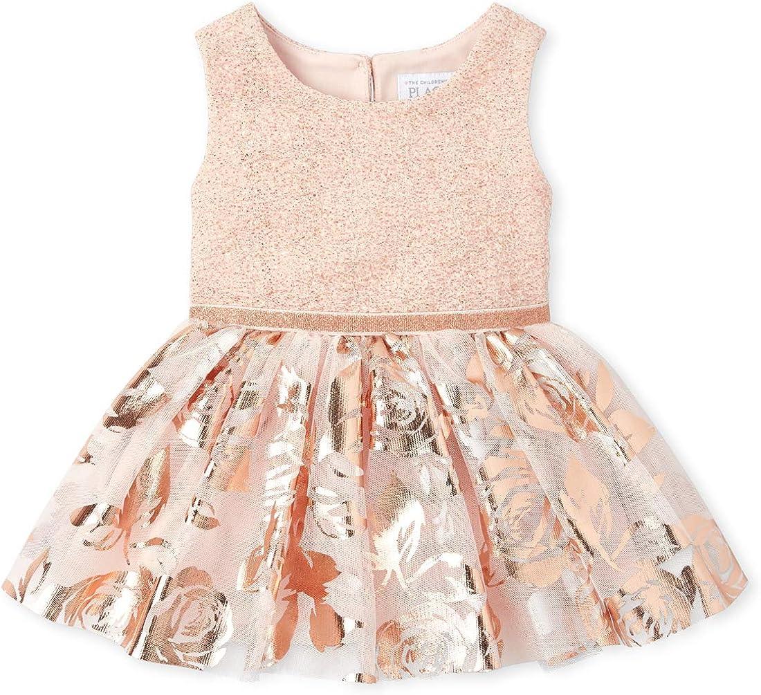 The Childrens Place Baby Girls Sleeveless Printed Tutu Dress