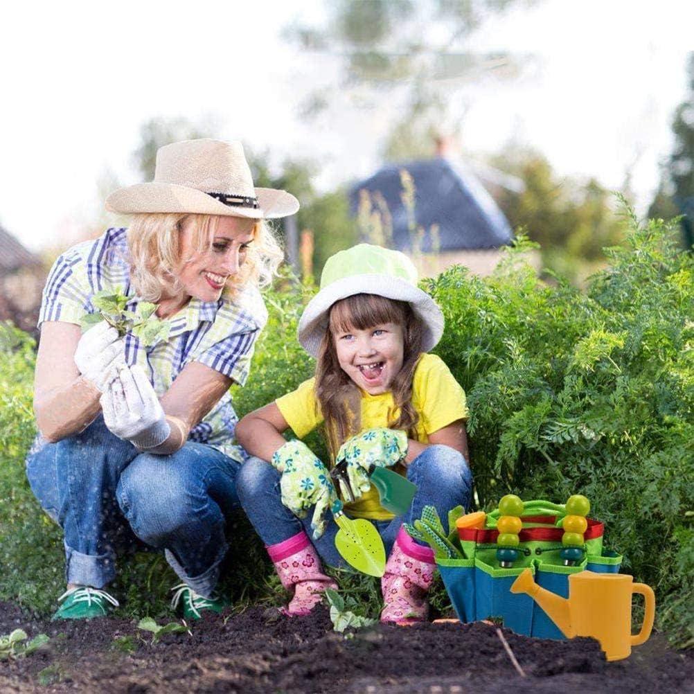 Spray Bottle Includes Gloves Kids Garden Tool Watering Can Apron Gardening Tools Bag T.Y.G.F 9 Pcs Kid Toys Kids Gardening Set hovel Spade Rake