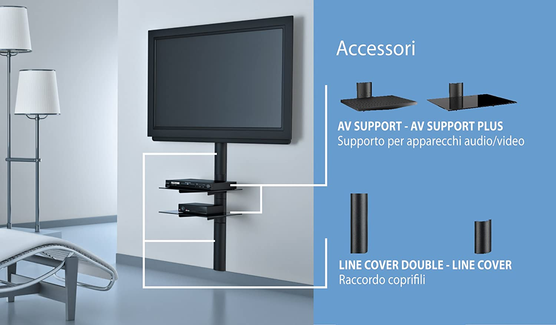 Coprifili Tv Arredamento.Meliconi Stile Line Cover Double Canalina Coprifili 35x11x3 6 Cm Nero