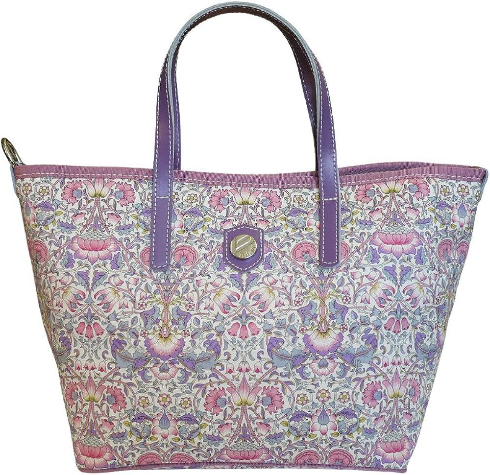 Bonfanti Liberty Lodden Print Tote Shopper Bag Shoulder Handbag Purple and Pink