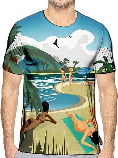 3D Printed T-Shirts Compass Rose Short Sleeve Tops Tees