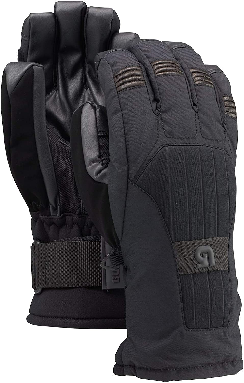 Burton Support Glove Snowboard Ski Gloves True Black Size Large Removable Wristguard 10345101002