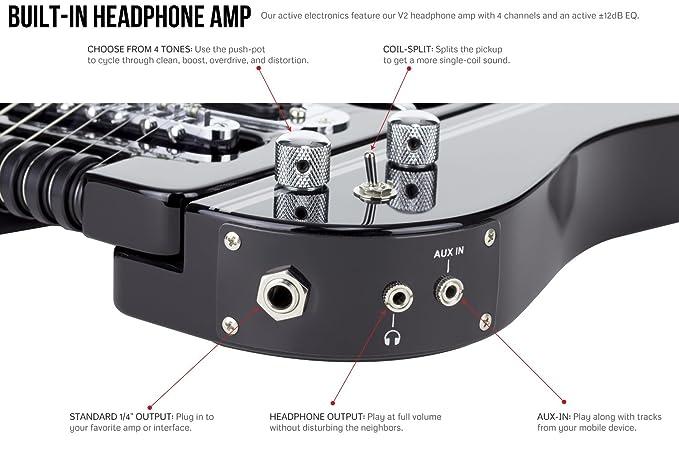 Traveler Guitar SPD HRR V2 Speedster HOT-ROD eléctrica guitarra de viaje con Gig Bag, Rojo: Amazon.es: Instrumentos musicales