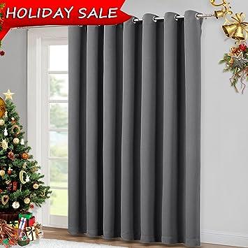 patio sliding glass door curtain wide blackout curtains keep warm draperies grey sliding - Patio Sliding Glass Doors