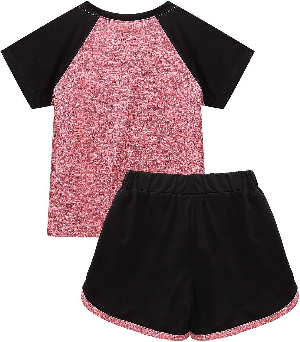 Trainingsanzug Schnelltrocknende Sport Outfits für Kinder Mädchen Jungen 110-152