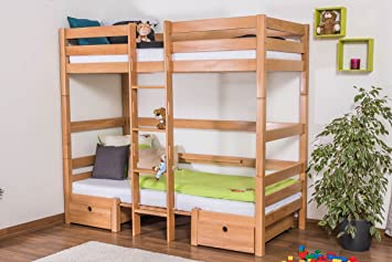 Etagenbett Umbaubar : Etagenbett für erwachsene easy sleep k n buche vollholz massiv