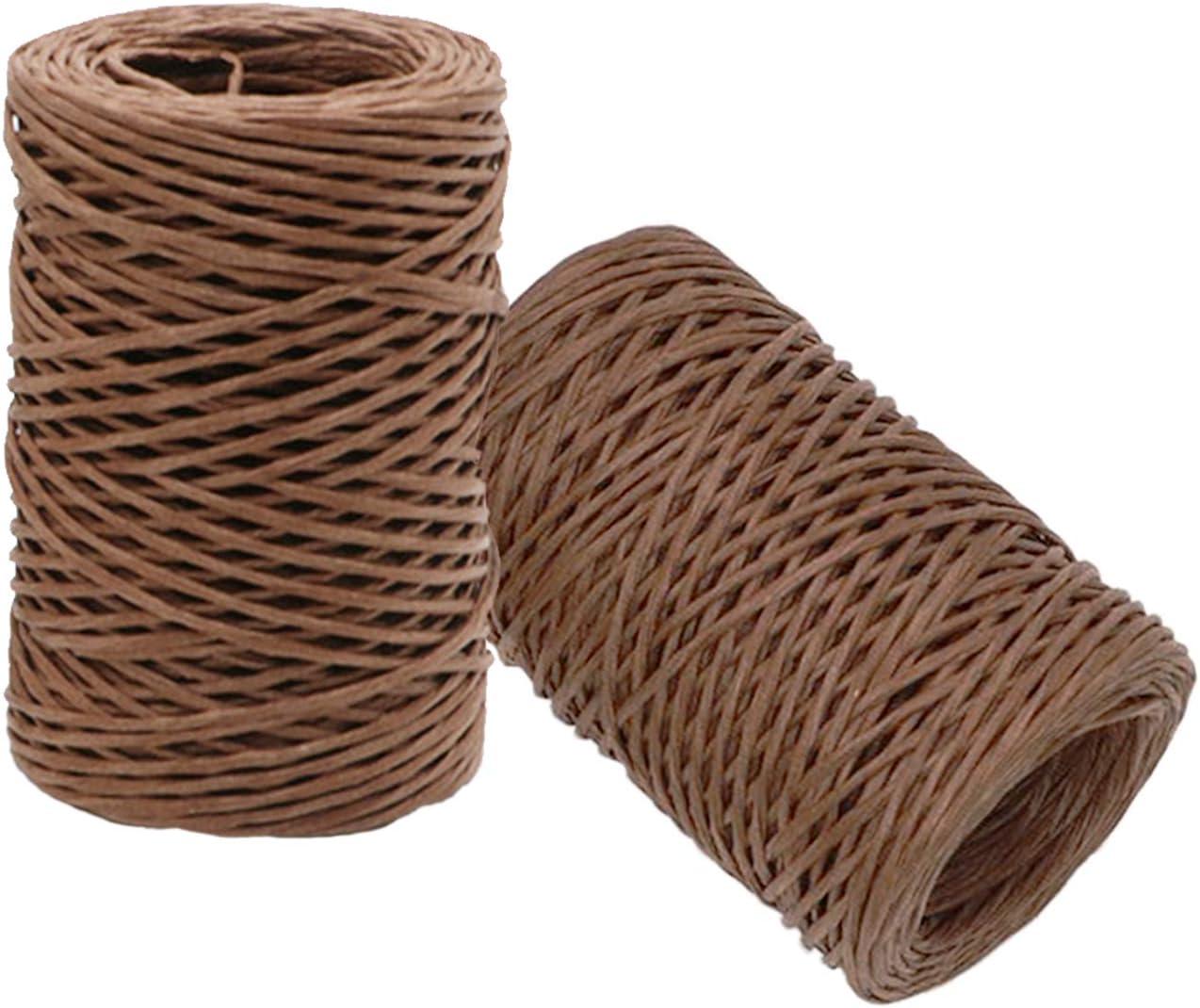 adecuado para el embalaje de ramo de novia 50 metros Papel alambre hierro natural Cord/ón papel de hilo de papel Papel hierro hecho a mano Se puede doblar en cualquier forma que desee sin rebote