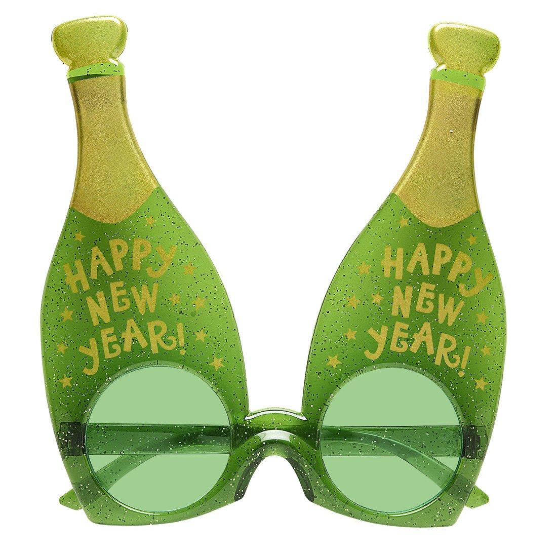 Kostüme & Verkleidungen Silvester Partybrille Sektflasche Scherzbrille Champagner Flasche Happy New Year