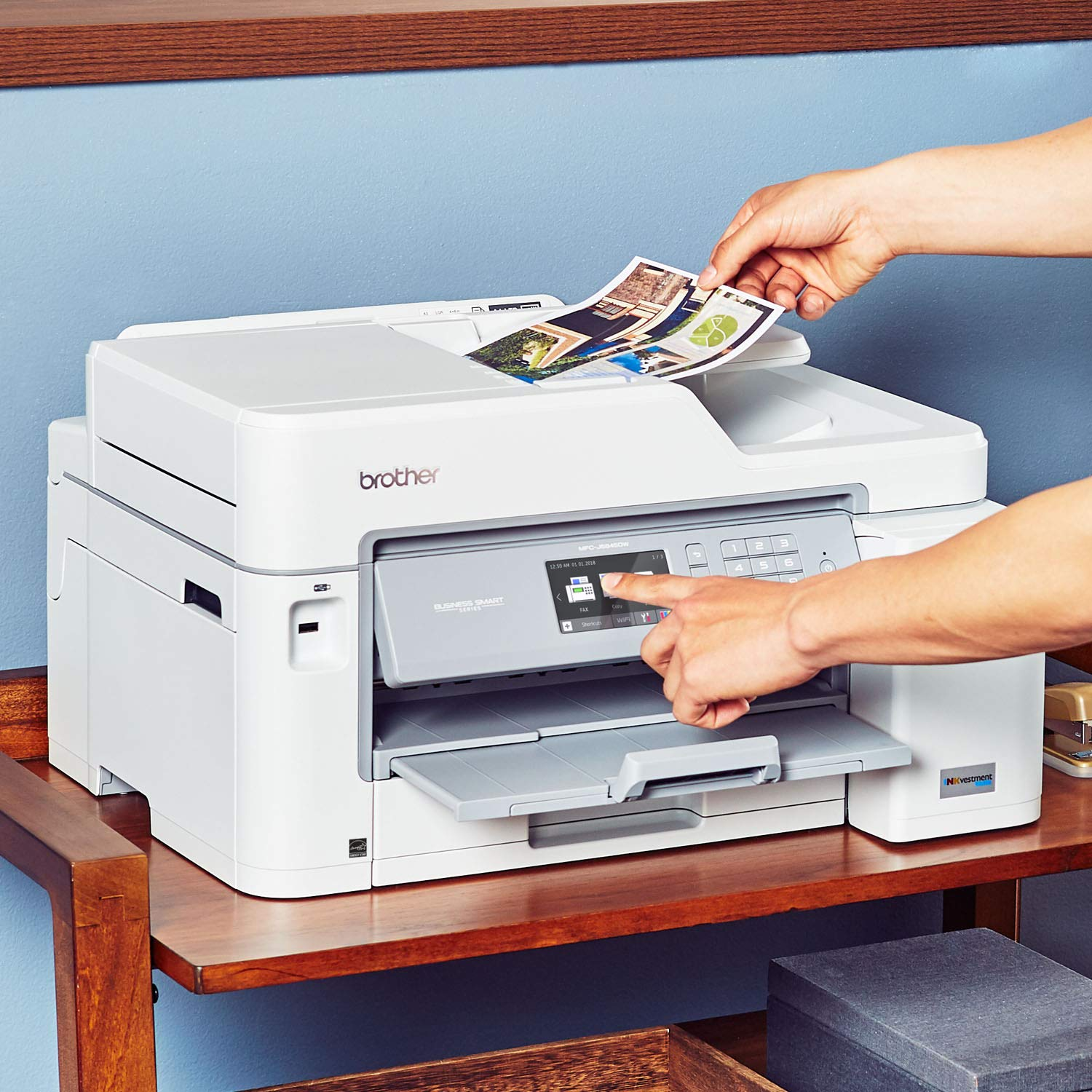 Brother Inkjet Printer, MFC-J5845DW, INKvestment Color Inkjet All-in-One Printer with Wireless, Duplex Printing and Up to 1-Year of Ink in-Box, Amazon Dash Replenishment Enabled by Brother (Image #5)